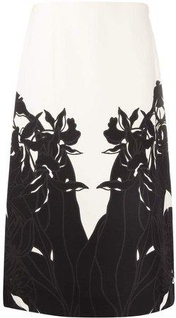 floral print A-line skirt