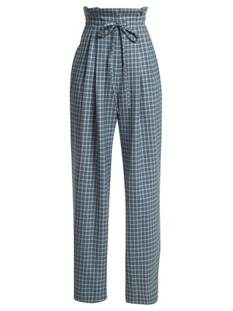 Checked wool paper-bag trousers | Rodarte | MATCHESFASHION.COM US