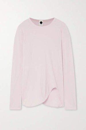 Asymmetric Organic Cotton-jersey T-shirt - Pink