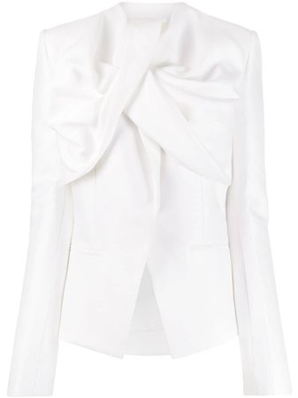 White Haider Ackermann Deconstructed Fitted Jacket | Farfetch.com