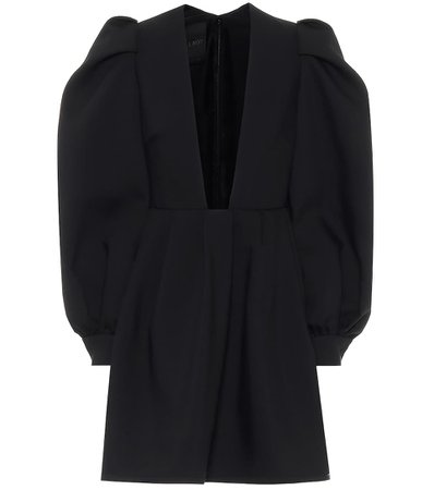 Wool And Silk Crêpe Black Dress