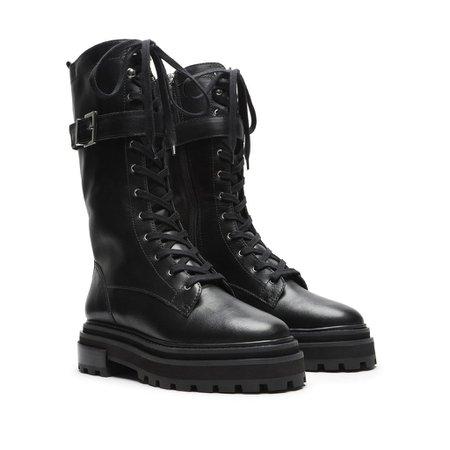 Moly Leather Combat Boot – SCHUTZ