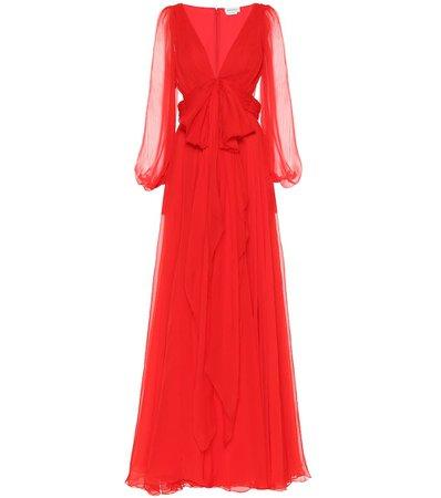 Silk Gown   Alexander McQueen - Mytheresa