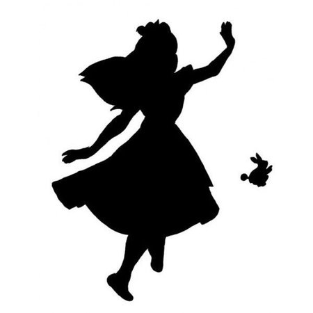 Alice In Wonderland silhouette filler
