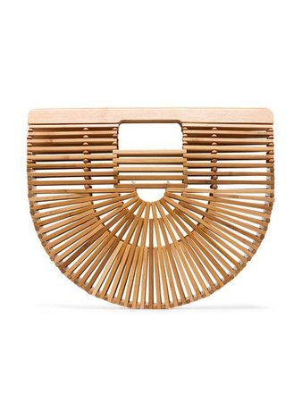 Cult Gaia brown Ark Small bamboo Clutch Bag $132 - Buy Online - Mobile Friendly, Fast Delivery, Price