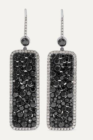 White gold 18-karat white gold diamond earrings | Martin Katz | NET-A-PORTER