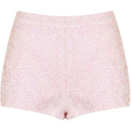 Cute baby pink sequin shorts from Topshop, brand new with - - Depop