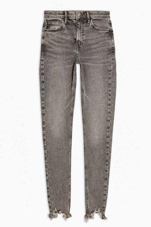 Grey Jagged Hem Jamie Skinny Jeans | Topshop