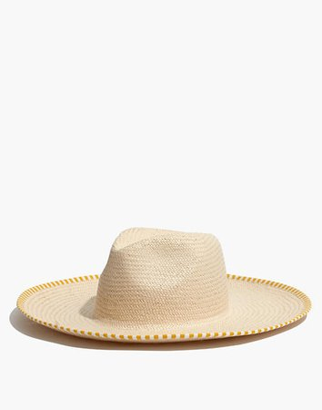 Wide-Brimmed Straw Sunhat