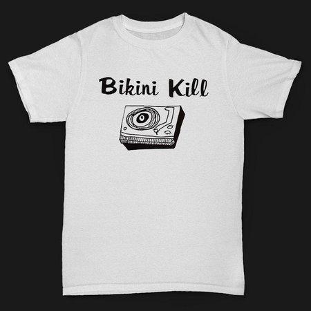 Bikini Kill record player t-shirt
