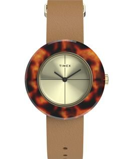 Variety™ 34mm Leather Strap Watch - Timex US