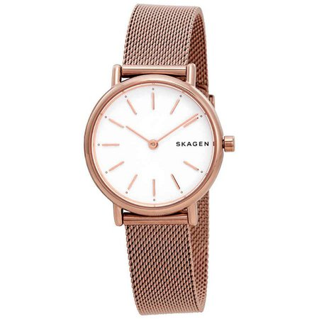 Skagen Signatur White Dial Ladies Watch SKW2694 | Urban Outfitters