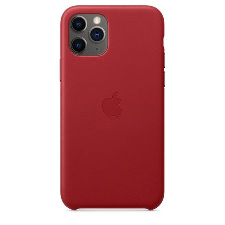iPhone 11 Pro Leather Case - Red - Apple