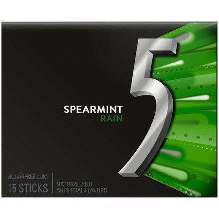 Wrigley's 5 Spearmint Rain Sugarfree Gum - 18ct : Target