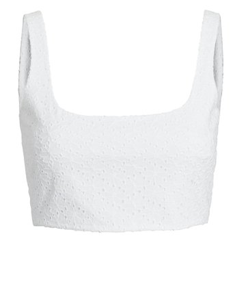 Anna Quan Addy Cotton Eyelet Crop Top | INTERMIX®