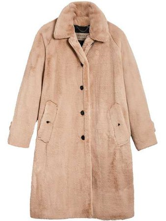 Burberry Faux Fur Single-breasted Car Coat - Farfetch