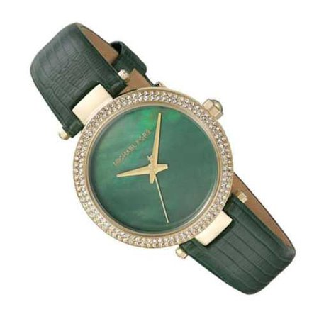 New Michael Kors MK2592 Parker Mini Crystal Green Leather 33mm Women's Watch 796483272248 | eBay