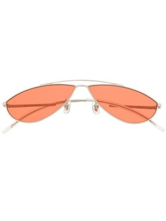 Shop orange & silver Gentle Monster Kujo 02(OR)sunglasses with Express Delivery - Farfetch