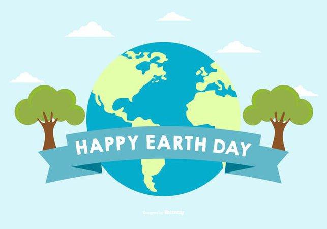 Happy Earth Day Illustration -