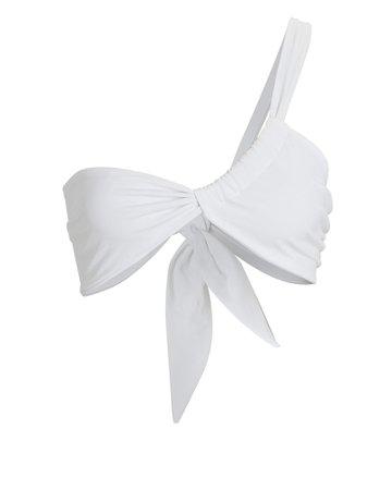 Sara Cristina Narcissus One-Shoulder Bikini Top | INTERMIX®