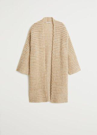 Chunky knit cardigan - Women | Mango USA