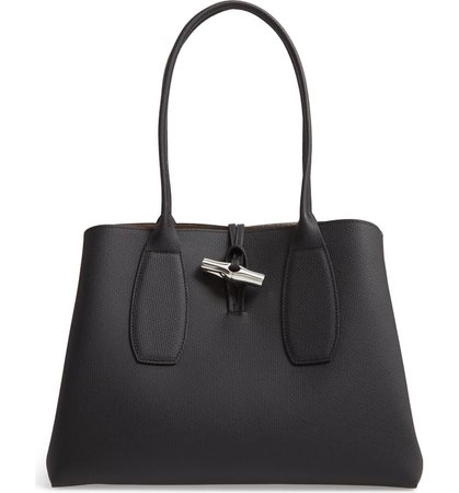 Longchamp Roseau Leather Shoulder Tote | Nordstrom