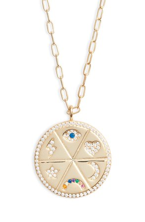 Argento Vivo Sterling Silver Medallion Pendant Necklace | Nordstrom