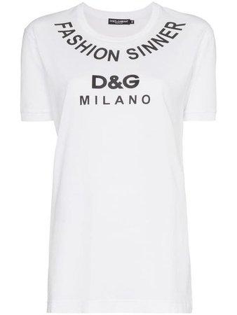 Dolce & Gabbana Fashion Sinner T-shirt Van Katoen Met Logoprint - Farfetch
