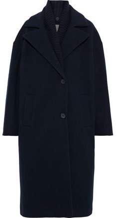 Convertible Wool-blend Coat