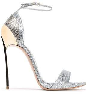 Glittered Woven Sandals