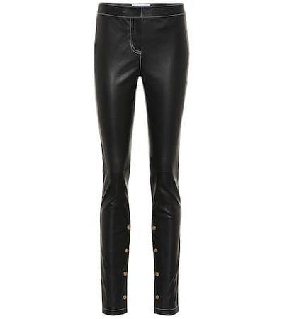 Embellished leather pants