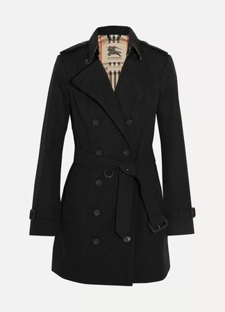 Black The Sandringham Mid cotton-gabardine trench coat | Burberry | NET-A-PORTER