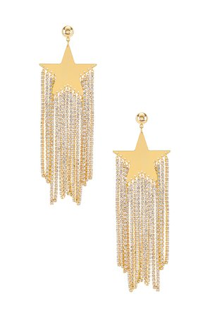 Amber Sceats Star Embellished Earrings in Gold | REVOLVE