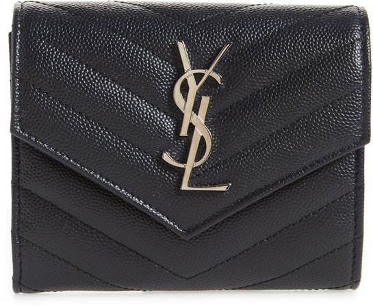 Monogram Matelasse Leather Trifold Wallet