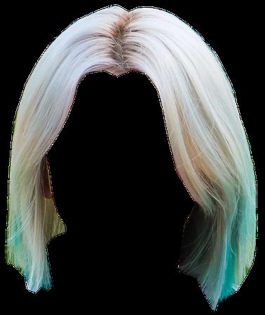 blonde mint hair