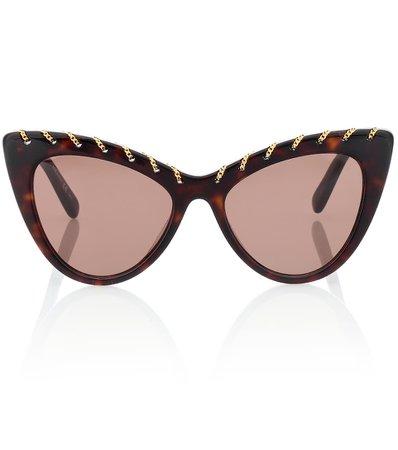 Falabella Chain Cat-Eye Sunglasses - Stella McCartney | mytheresa.com