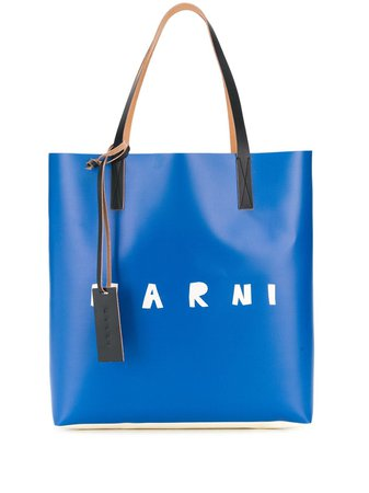 Marni logo-print Tote Bag - Farfetch