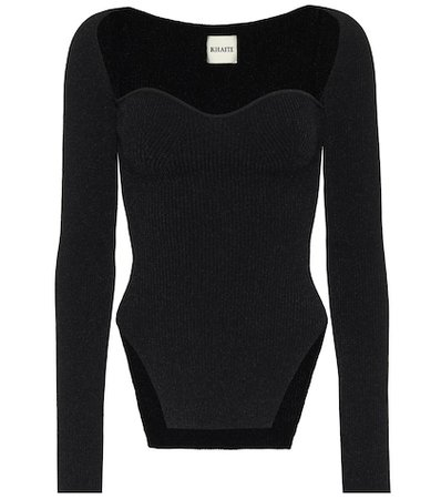 Nensi Dojaka - Stretch-tulle bodysuit | Mytheresa
