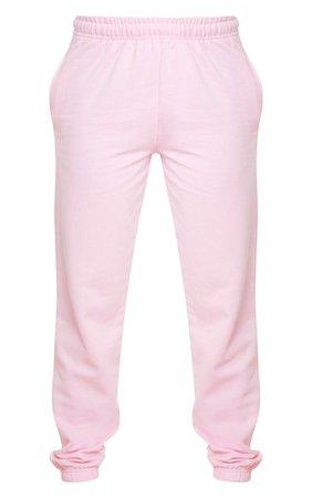 Plt Light Pink Diamante Slogan Jogger | PrettyLittleThing USA pink