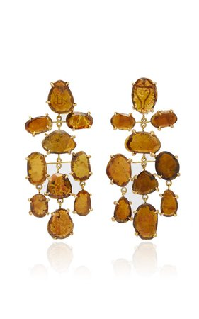 Brown Tourmaline Asteroid Earrings by Lisa Eisner | Moda Operandi