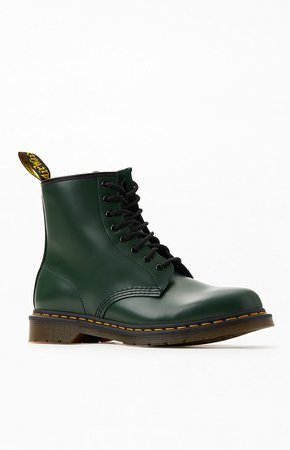 Dr Martens 1460 Smooth Leather Green Boots at PacSun.com
