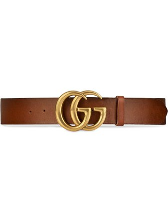 Gucci Leather Belt With Double G Buckle Aw20 | Farfetch.Com