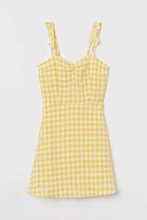 Open-backed Dress - Yellow