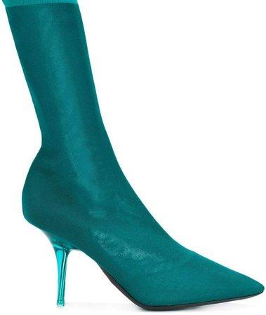 transparent heel sock boots