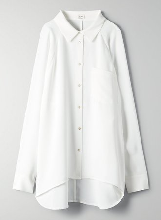 Wilfred BOYFRIEND BUTTON-UP SHIRT | Aritzia US white