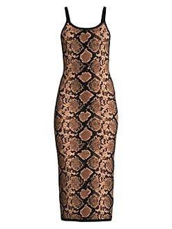 Michael Kors Collection Snake Print Dress