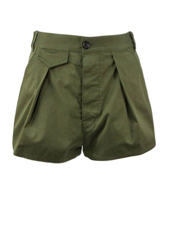 Dsquared2 Green Cotton Shorts