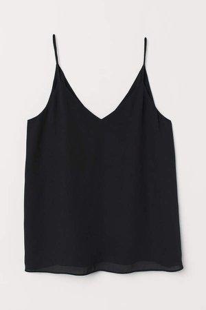 V-neck Camisole Top - Black
