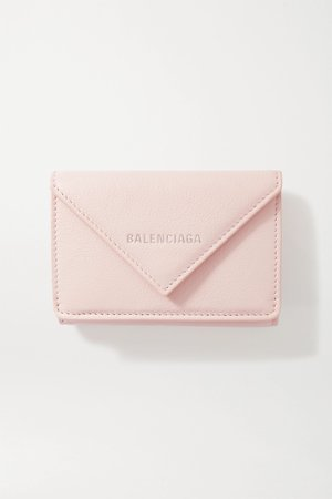 Pink Papier mini printed textured-leather wallet | Balenciaga | NET-A-PORTER