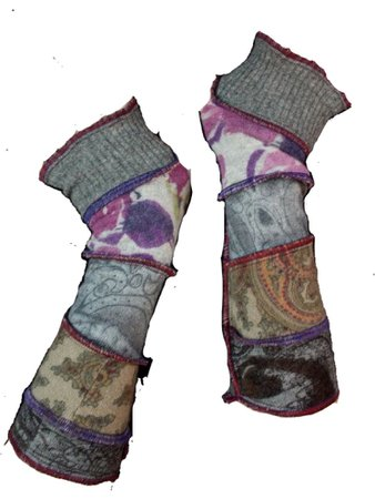 top stitched arm warmers